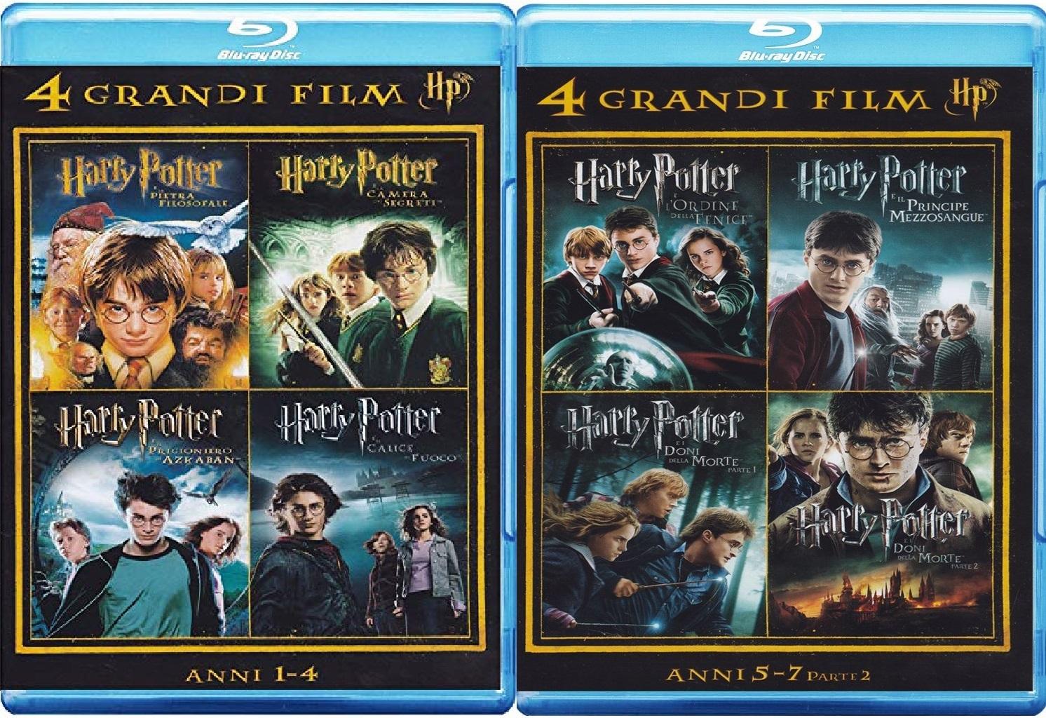 [Amazon.it] Harry Potter 1 - 7.2 Blu-ray zusammen für nur 16,15€ inkl. Versand