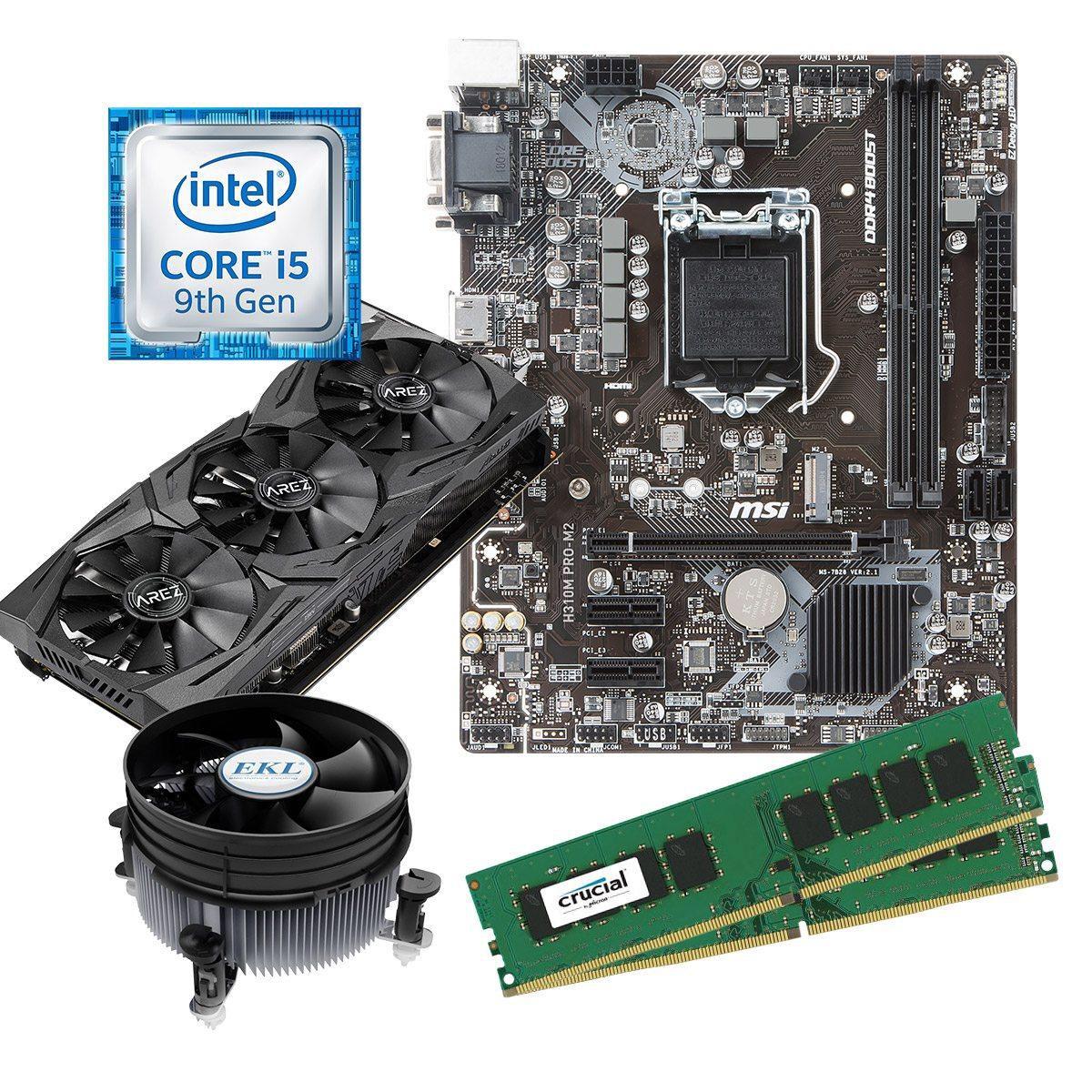 Aufrüstkit: Intel i5-9400F, 8GB Crucial RAM DDR4, Asus Strix 8GB Vega 56 + MSI H310 PRO-M2