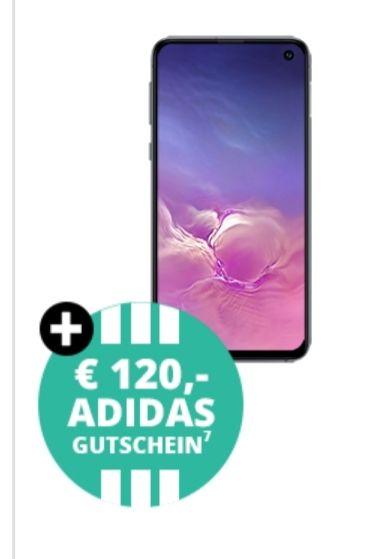 Samsung Galaxy S10e und 120€ Adidas Gutschein im Telekom Magenta S (max. 11GB LTE, Allnet/SMS) Young und MagentaEINS