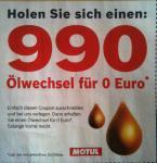 Ölwechsel bei BOSCH für 0 Euro (Öl muss dort gekauft werden)