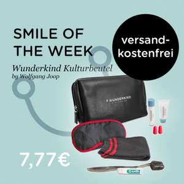 Wunderkind by Wolfgang Joop Kulturbeutel 7-teilig - Schlafmaske, Zahnbürste, Socken, Ohrstöpsel usw. schwarz für 6,22€ inkl. Versandkosten