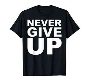 Never Give Up T-shirt - Liverpool England Mohamed Salah