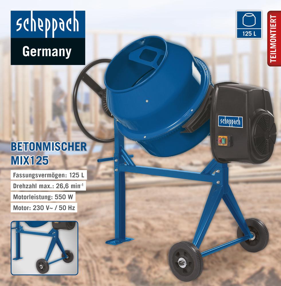 Scheppach Betonmischer MIX125 für 144,25€ [Norma24]
