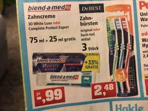 Blend a Med Zahncreme 3D white luxe bei Thomas Philipps +33% EXTRA