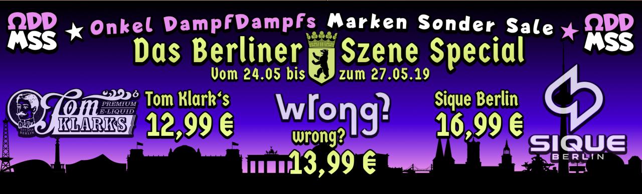 Marken Sale: Tom Klarks 12,99€ - Sique Berlin 16,99€ |  Vape - Dampfen - Liquid