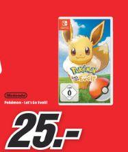[Lokal Mediamarkt Heidelberg,Mannheim,Viernheim,Weinheim,Worms,Heppenheim Neustadt,Speyer Ludwigshafen] Pokémon Let's Go Go, Evoli  für 25,€