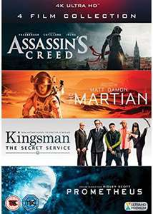 Assassin's Creed + Der Marsianer + Kingsman + Prometheus (4K Blu-ray)