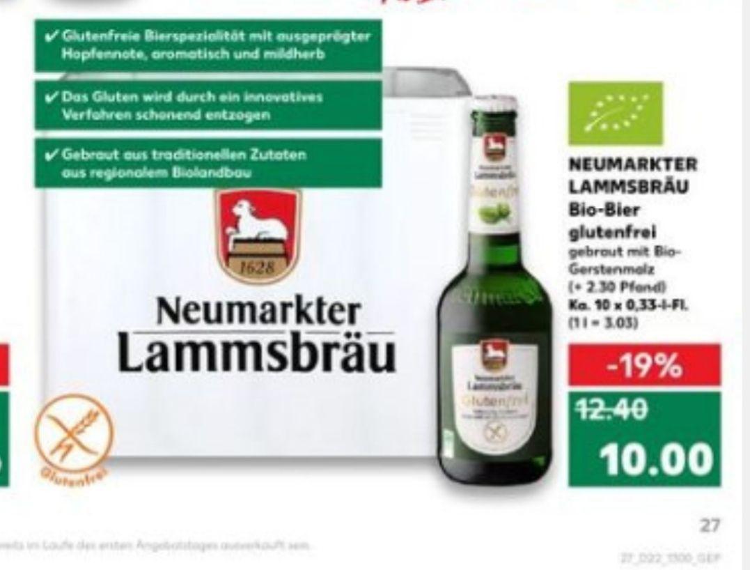 [Kaufland ab 31.05] Neumarkter Lammsbräu Bio-Bier (glutenfrei)der 10x 0,33l Kasten für nur 10 €