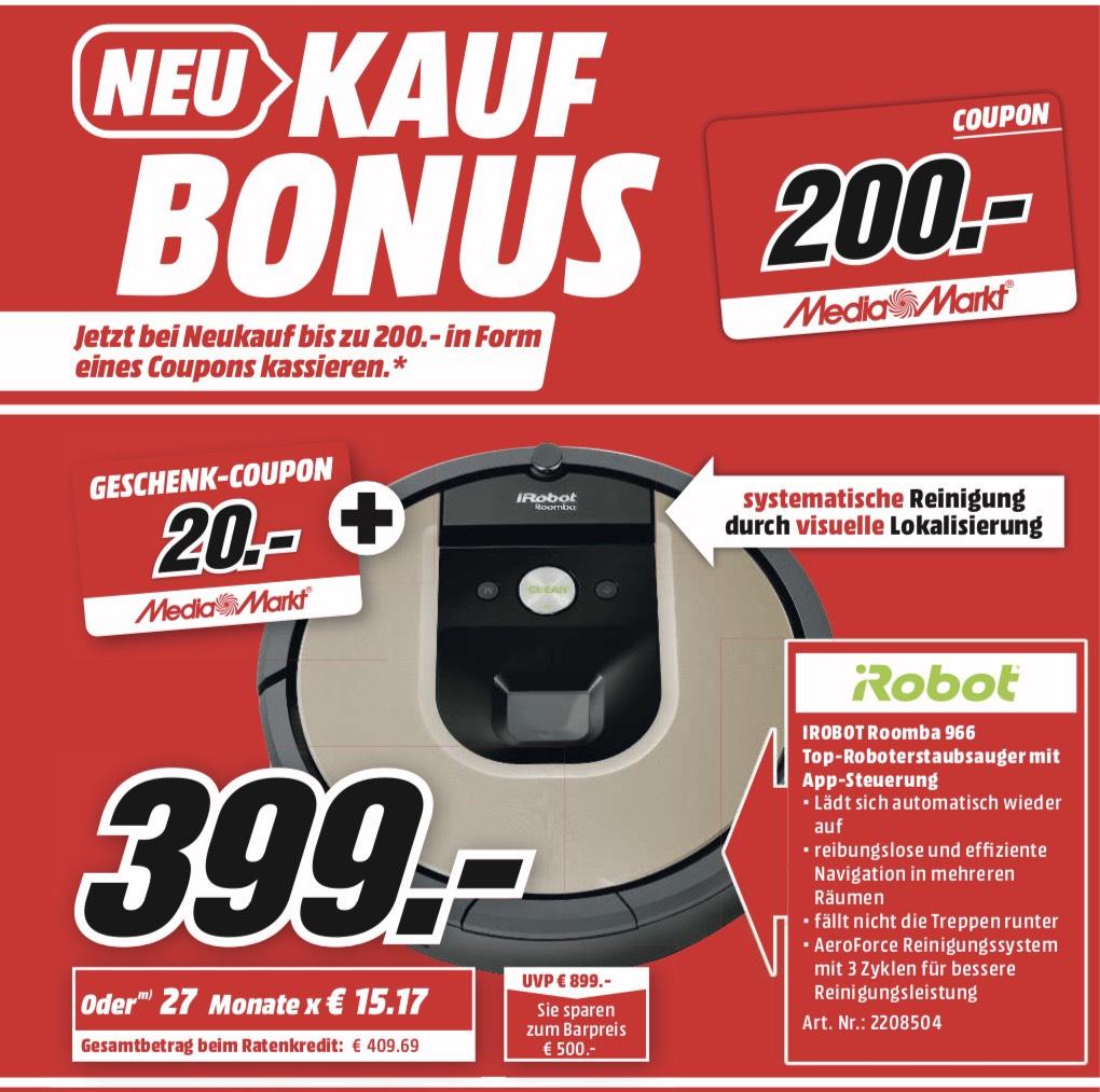 iRobot Roomba 966 - zusätzlich 20,00 € Coupon - Lokal MediaMarkt