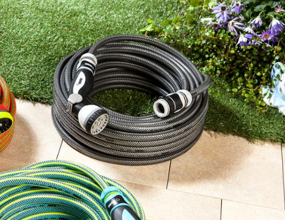 Gartenschlauch schwarz-grau ca. 25 m, 13 mm (1/2'') 14,94 € inkl. Versand
