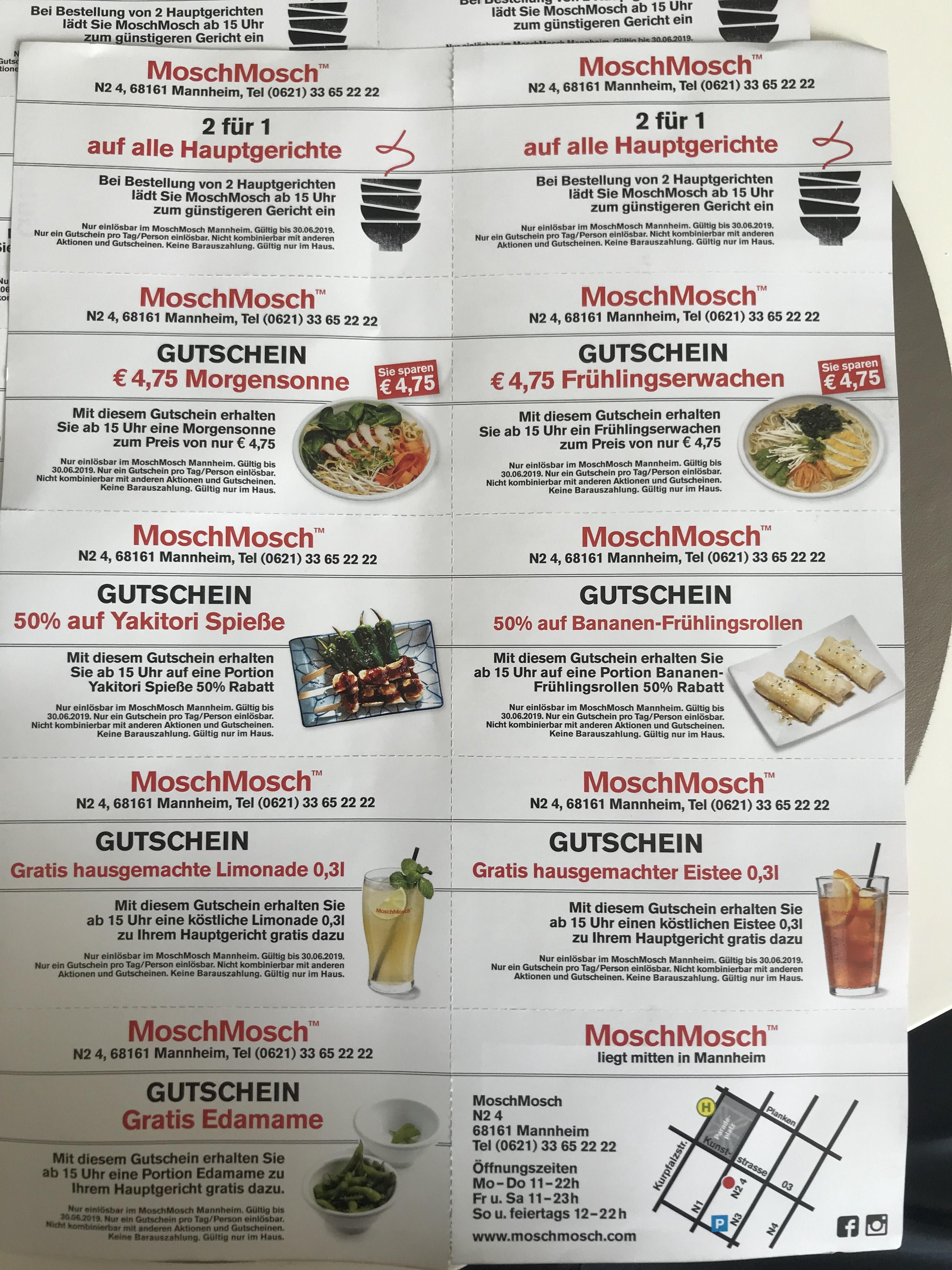 MoschMosch Mannheim Gutscheine