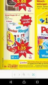 Kinder Riegel 10 + 1Packung nur am internationalen Kindertag für 1,35 € - 32 %