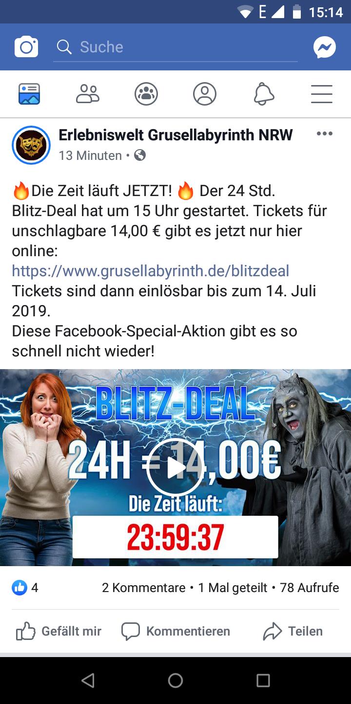 Bottrop - Erlebniswelt Grusellabyrinth NRW - TicketNur 14 €
