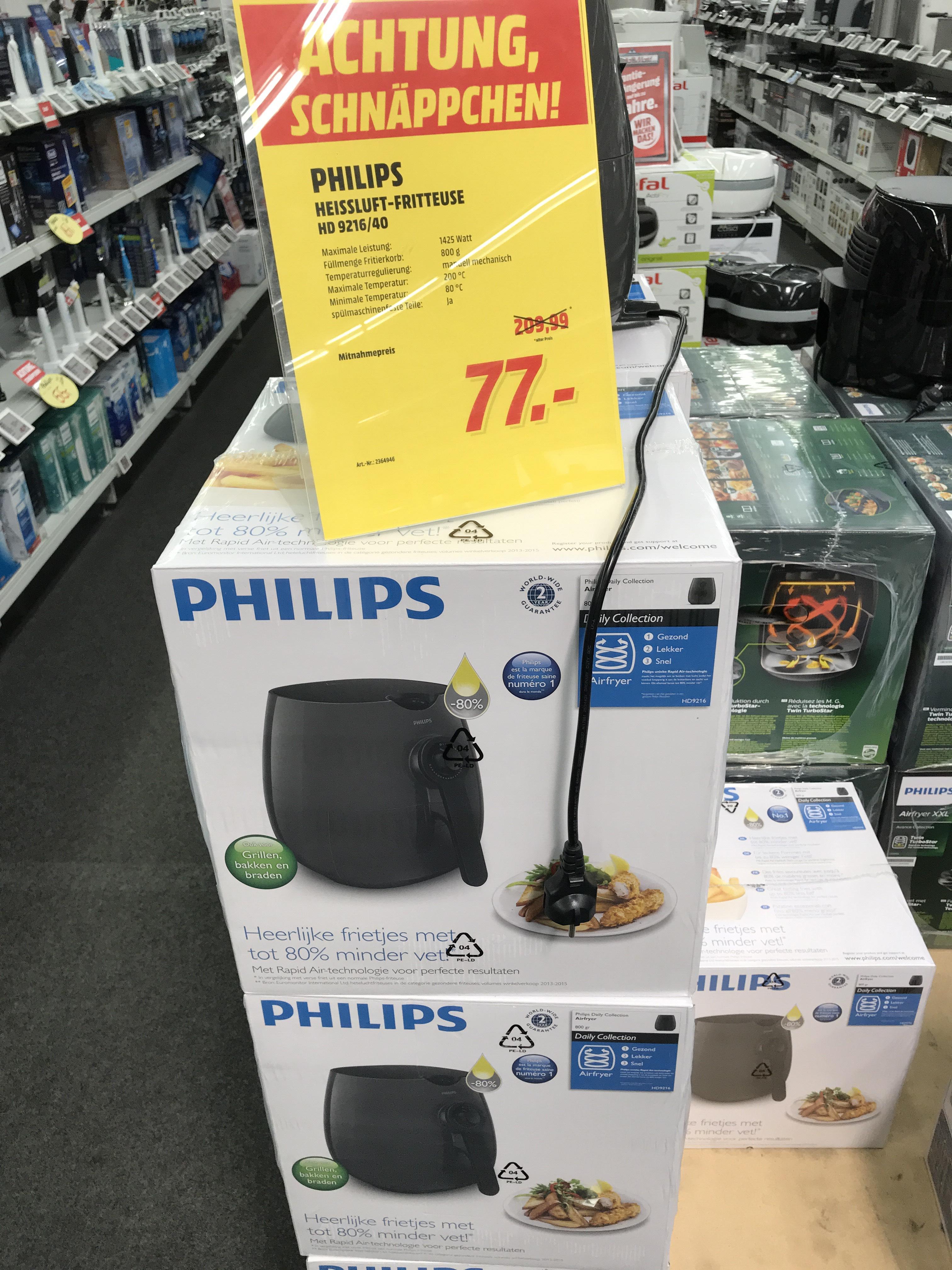 (Lokal MM Essen) Philips Airfryer HD9216/40