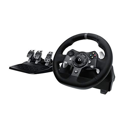 Logitech G920 Driving Force Rennlenkrad mit Pedalen (geeignet für Xbox One und PC, UK-Stecker)