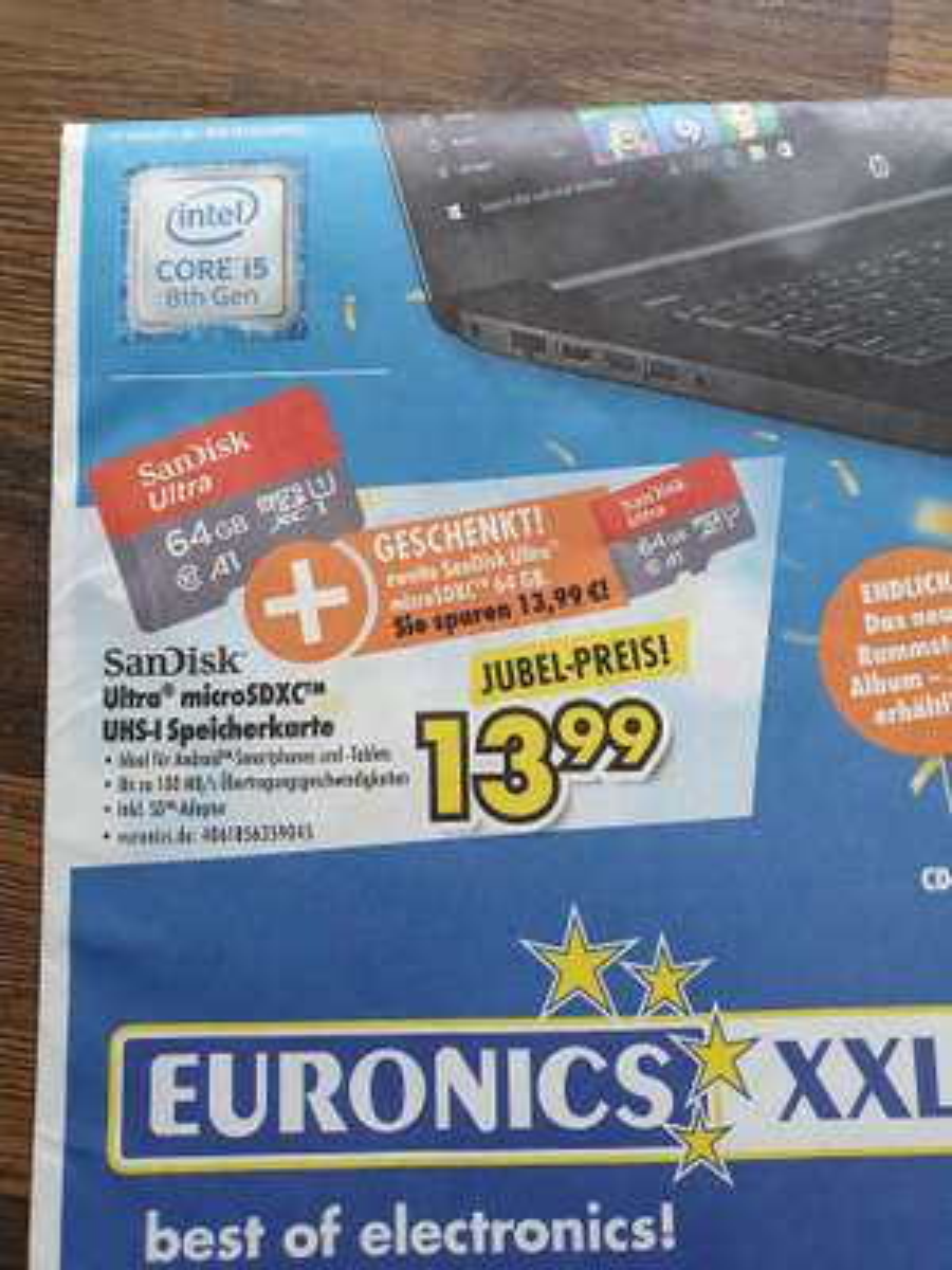 2x SANDISK Ultra 64GB microSDXC Speicherkarte (lokal) [Euronics]