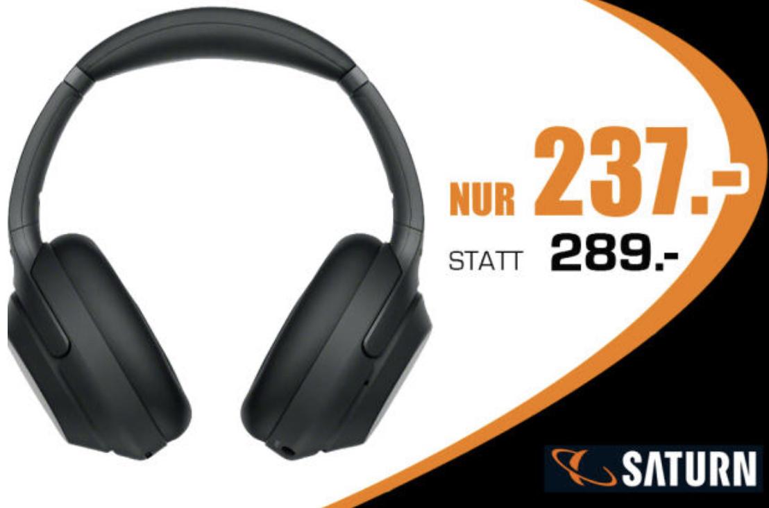 Sony WH-1000XM3 Bluetooth Noise Cancelling Kopfhörer für 237€ oder SONY KD-55XF7596 4K UHD LED TV für 577€ - Lokal Saturn Bochum