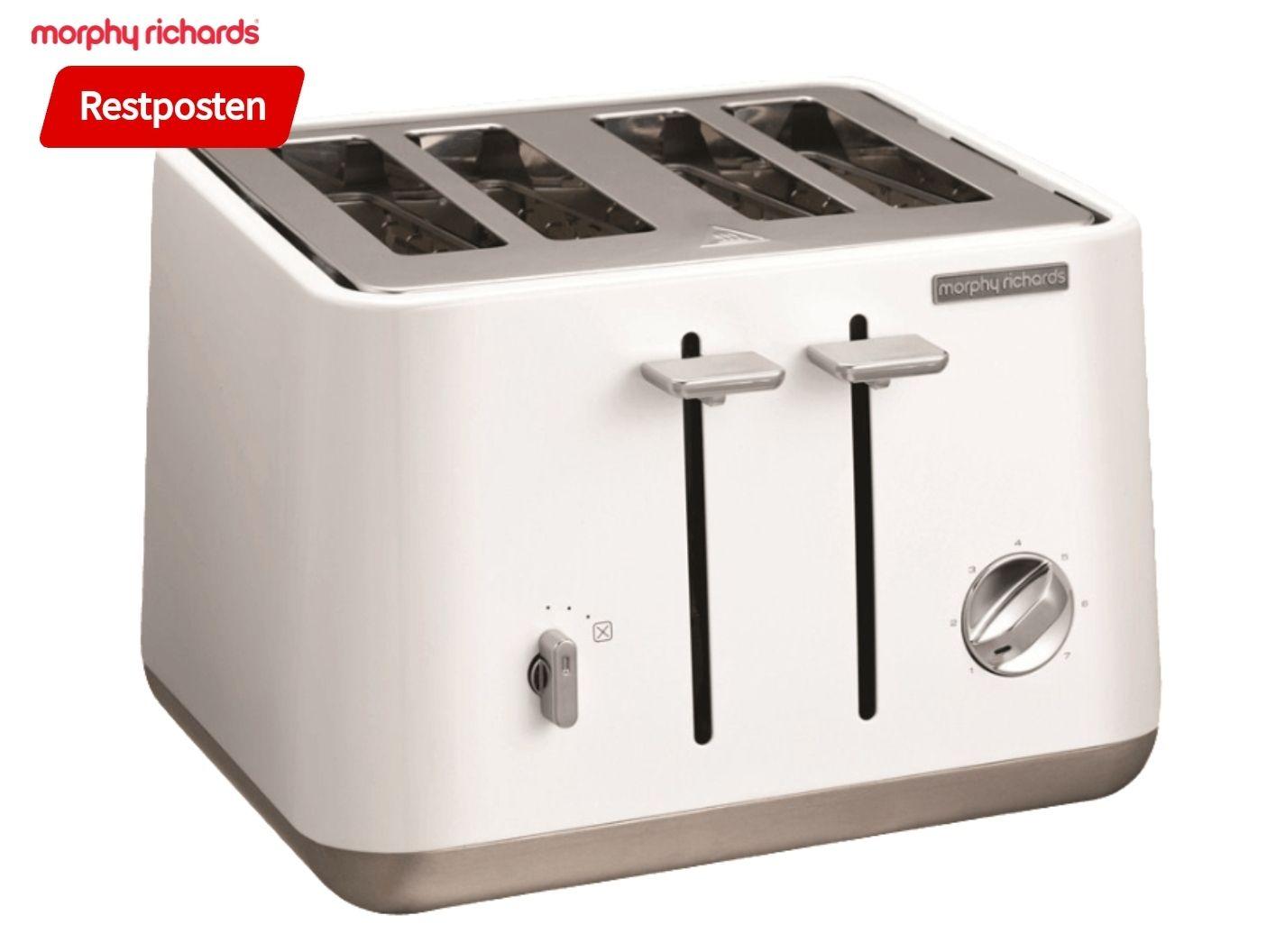 Morphy Richards Aspect Toaster, Weiß oder schwarz, 4 Schlitze, 1800 Watt