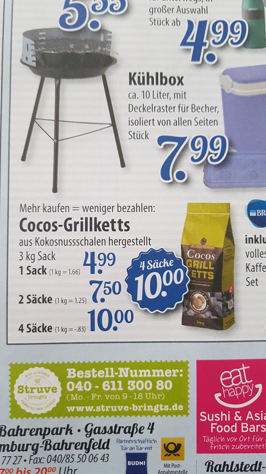 [ Lokal HH ] 12Kg Cocos Grillketts 1Kg/0.83€ Edeka