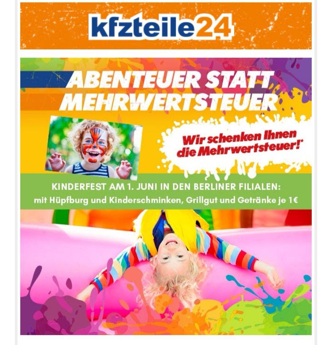 kfzteile24 kinderfest mwst geschenkt lokal berlin. Black Bedroom Furniture Sets. Home Design Ideas