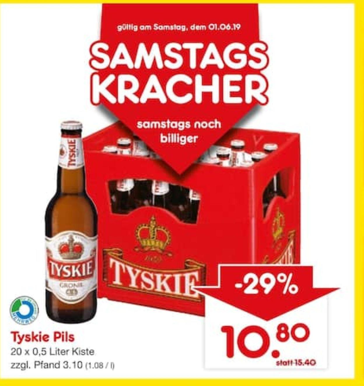 (Lokal Düsseldorf) NETTO Getränke-Discount Kiste Tyskie 20 x 0,5l