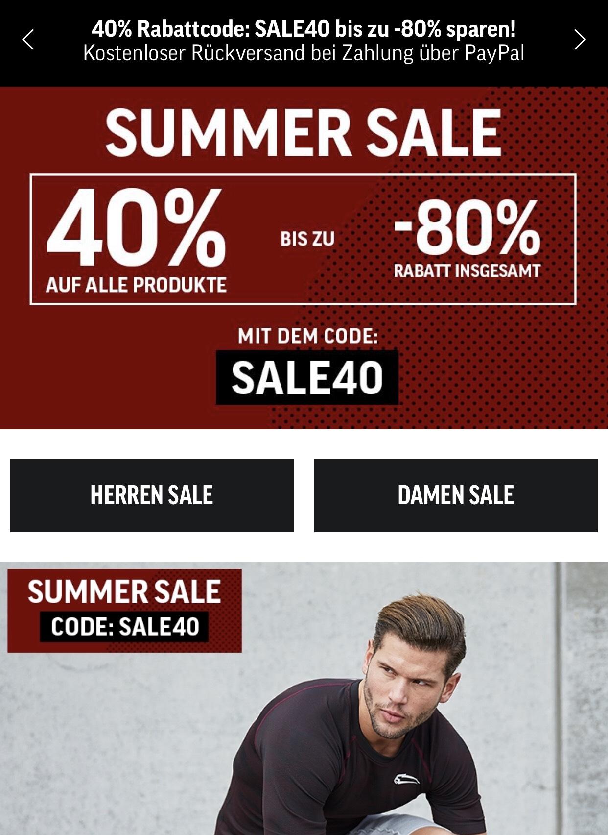 Smilodox Summer Sale -40% Sportbekleidung