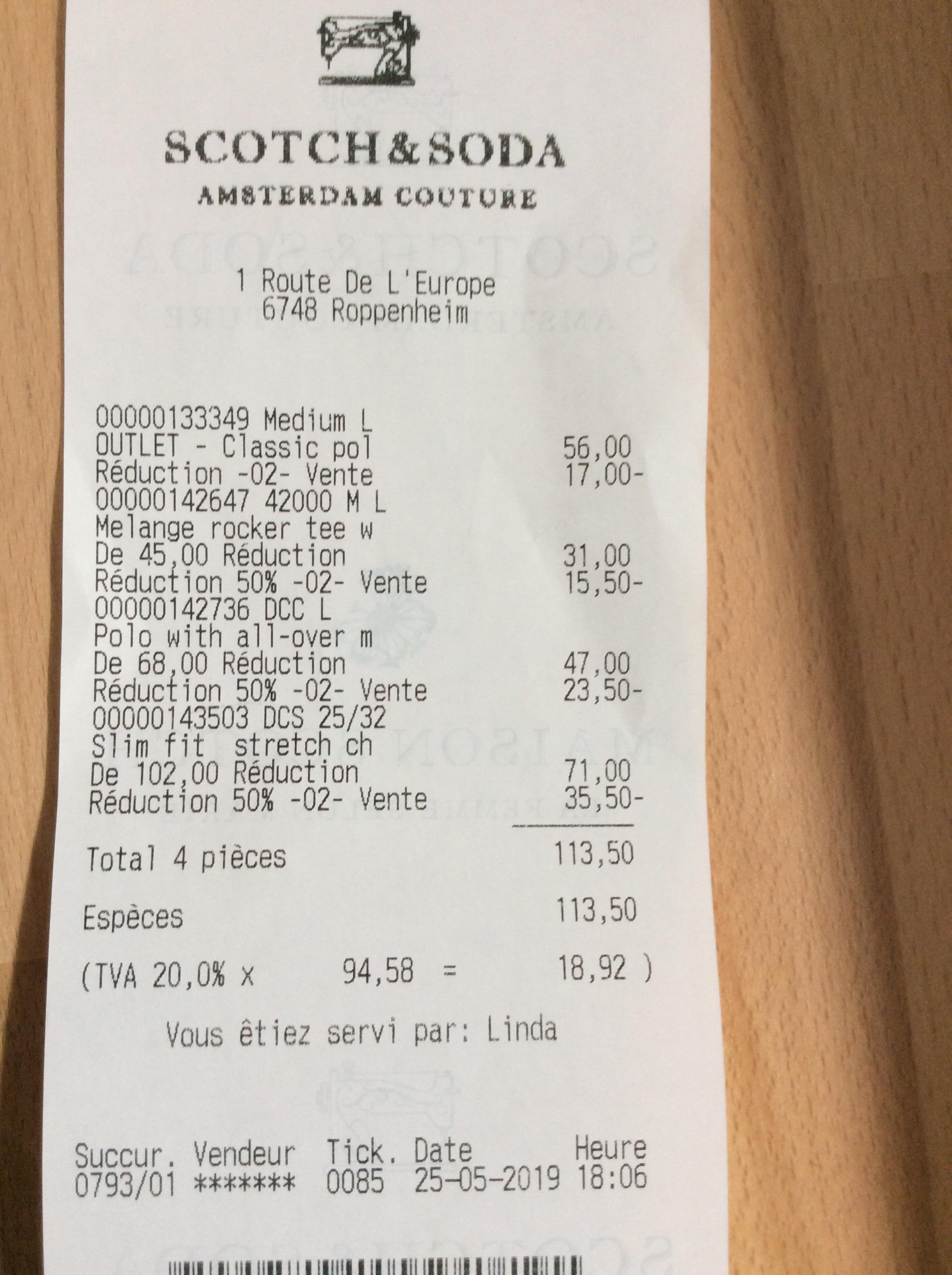 Scotch & Soda Outlet Roppenheim 2x Artikel - 20%, 4x Artikel - 50% Rabatt auf Einkauf -Grenzgänger-