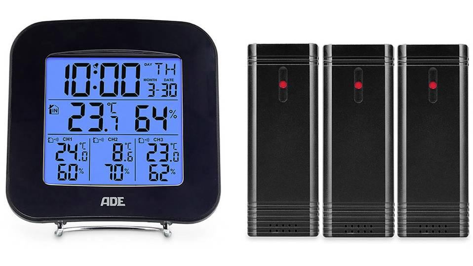 """ADE Mobile Wetterstation mit 3 Aussen-Sensoren """"WS 1823"""" [VOELKNER]"""