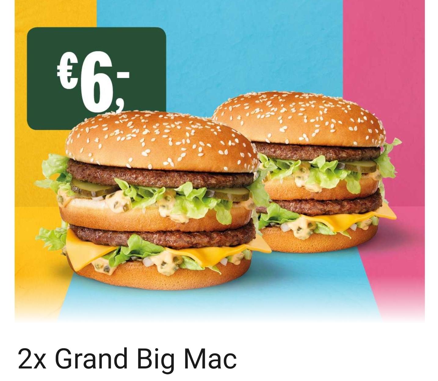 2x Grand BigMac für 6€ [McDonalds Niederlande]
