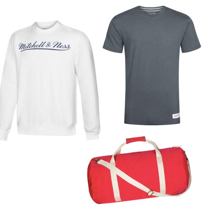 Großer Mitchell & Ness-Sale, T-Shirts für 8,99€, Duffle Bags für 11,99€