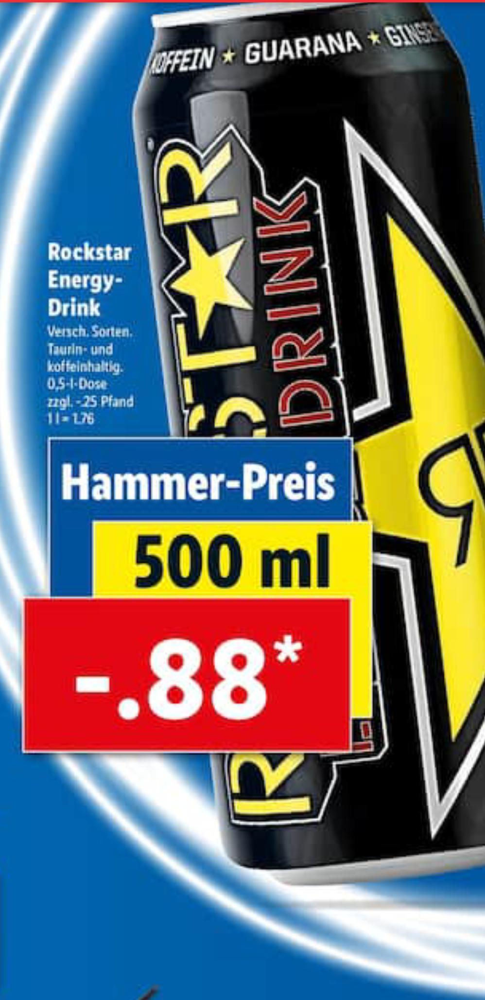 [Lidl] Rockstar Energy Drink 0,5l verschiedenen Sorten