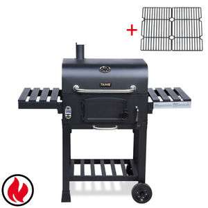 Taino Hero XL Smoker BBQ Grill Holzkohle + Gusseisen Rost
