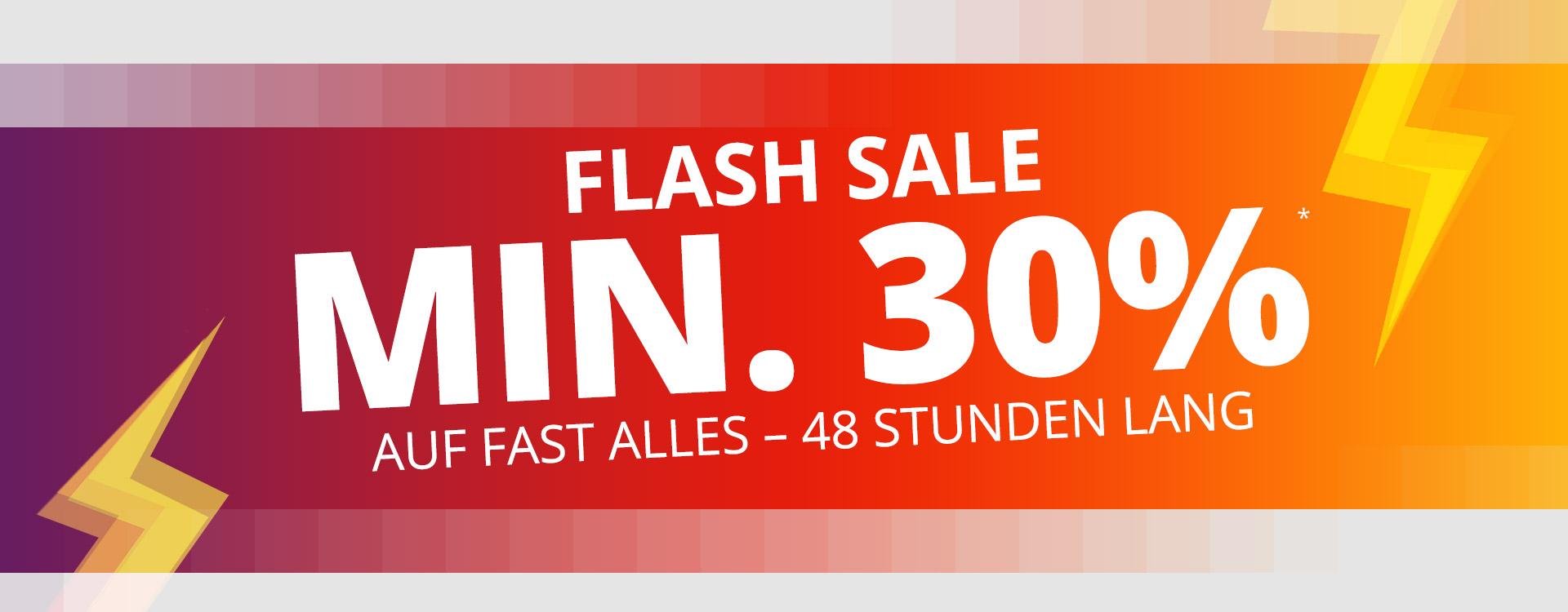 Kicker Flash Sale 30Prozent auf fast alles..