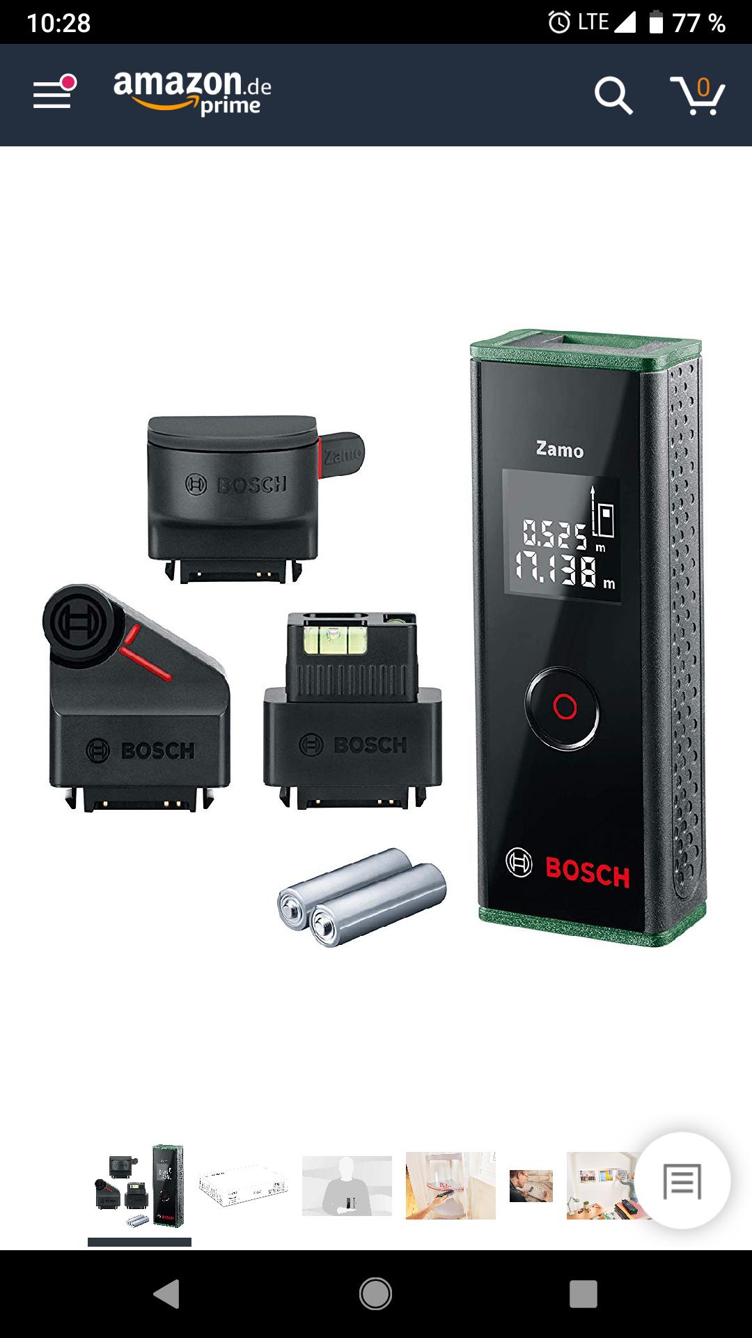 Bosch Laser Entfernungsmesser Zamo Set (3. Generation) - Amazon Tagesdeal