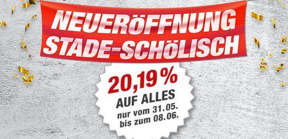 Neueröffnung Toom Stade-Schölisch am 31.5., 20,19% und Stema-Anhänger zu 299.-
