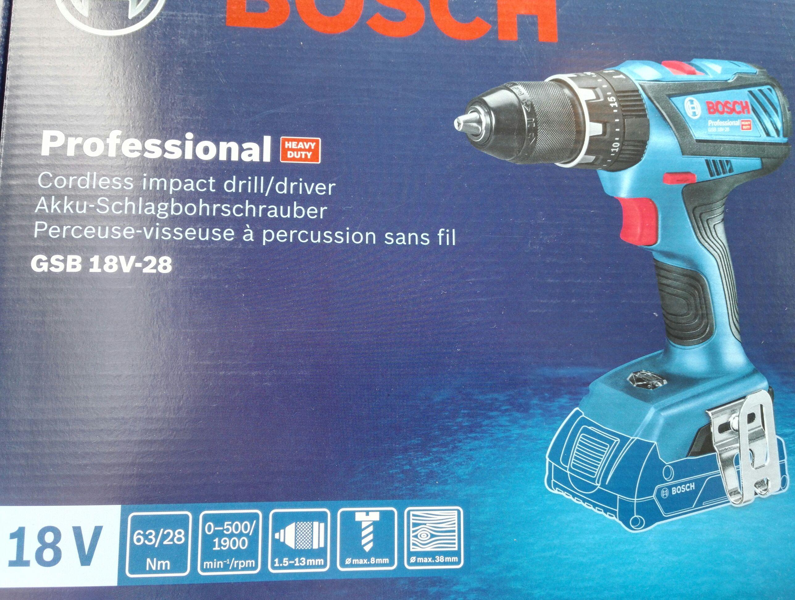 [Hornbach Lokal TPG] Bosch Akku-Schlagbohrschrauber GSB 18V-28 Professional Solo - 06019H4000