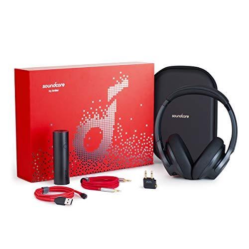 ANC-Kopfhörer Anker Soundcore Life 2 im Geschenkset mit 5000mAh-Powerbank, Micro-USB- und Klinkenkabel, Flugzeugadapter und Reiseetui