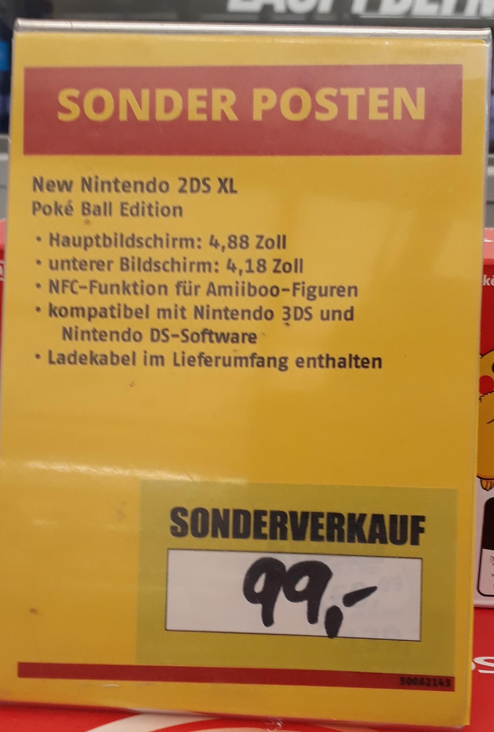 [LOKAL ESSEN] - Nintendo New 2DS XL Poké Ball Edition rot/weiß für 99,00 EUR