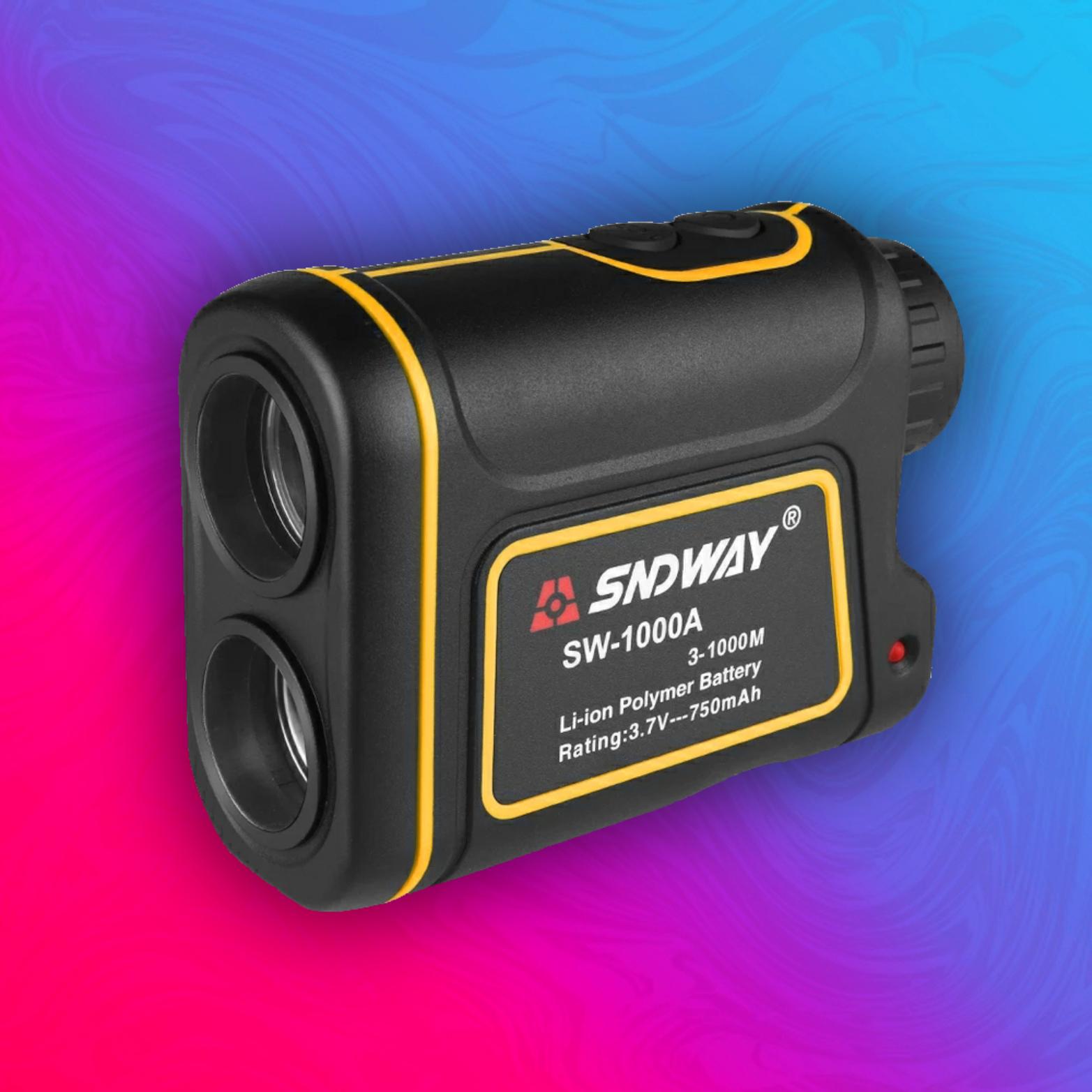 SNDWAY SW-1000A: Lasererntfernungsmesser - 1000M Reichweite - Höhe, Winkel, Geschwindigkeit - 7X Zoom - 750mAh Akku