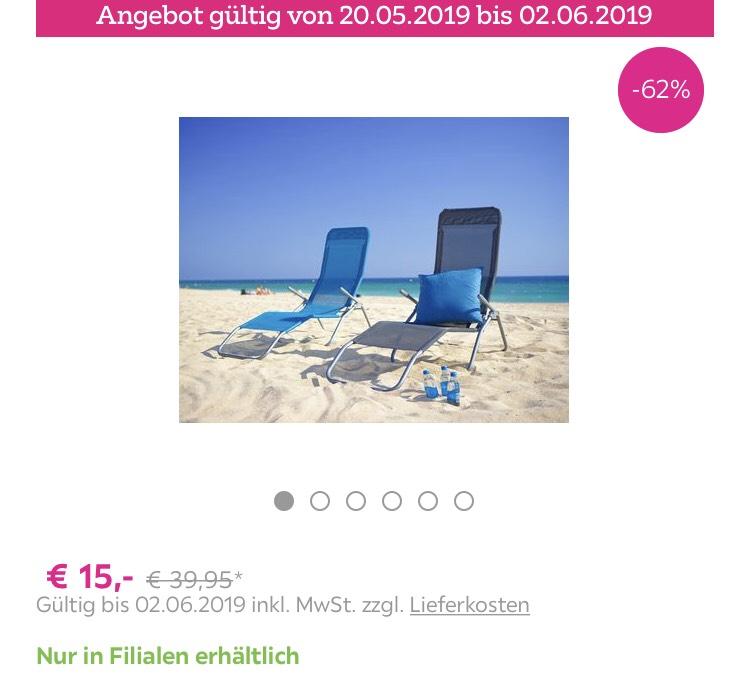 Sonnenliege bei Mömax in Blau oder Anthrazit nur offline!!