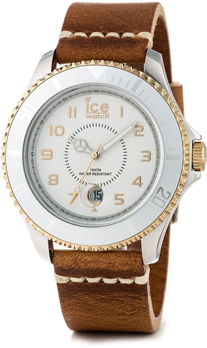 Ice-Watch Ice-Heritage cognac/big (Quarz-Uhrwerk, Mineralglas, Datumsanzeige, Lederarmband, fluoriszierende Zeiger, Edelstahlgehäuse)