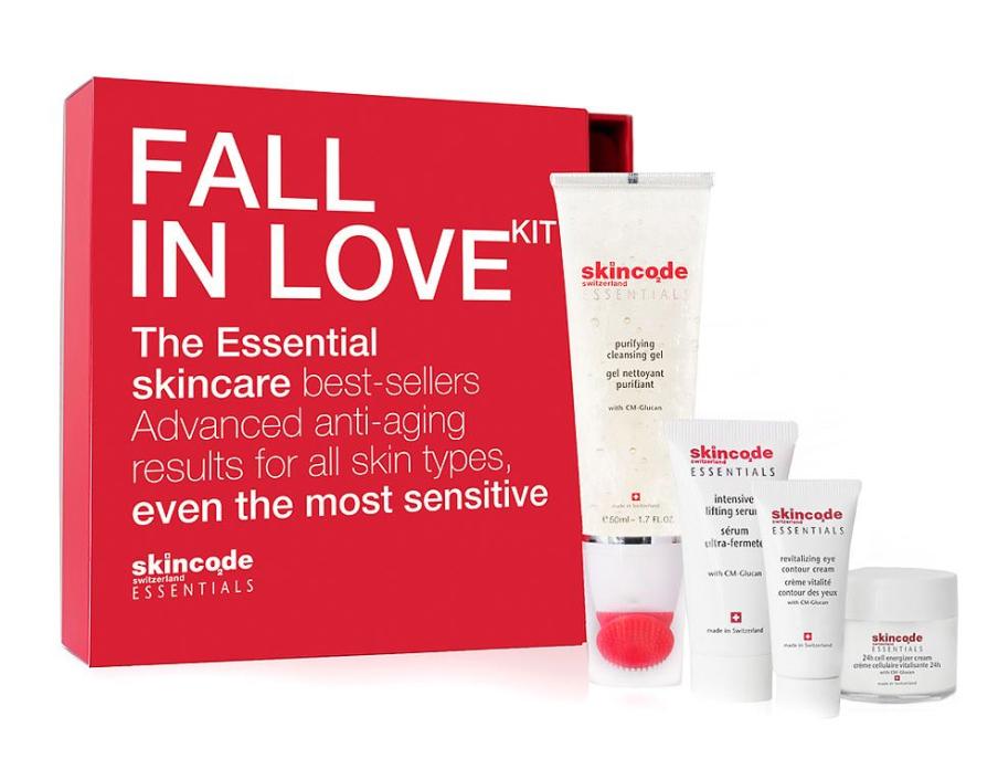 """4-teiliges Set """"Fall in Love"""" von Skincode Essentials"""