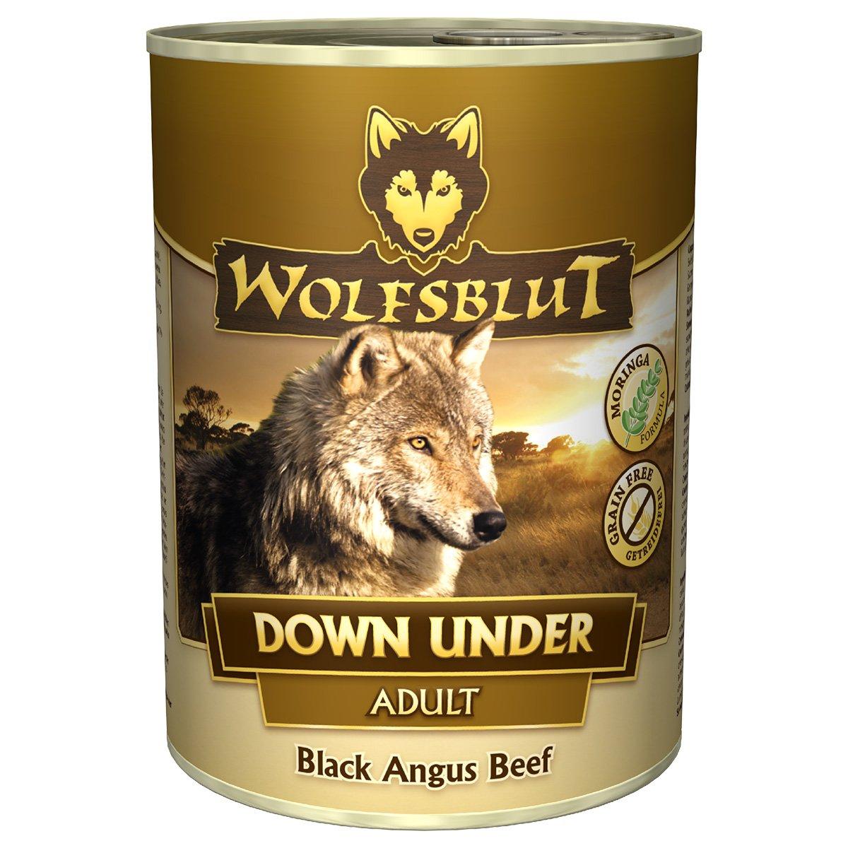 Wolfsblut Down Under Nassfutter für Hunde mit Black Angus Beef 6er Pack (6 x 800 g) [Amazon Prime]