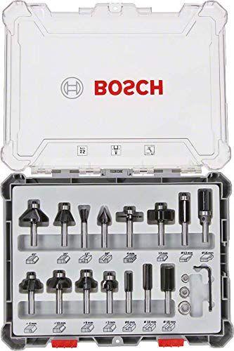 [prime] Bosch Professional 15tlg. Fräser Set (für Holz, für Oberfräsen mit 8 mm Schaft)