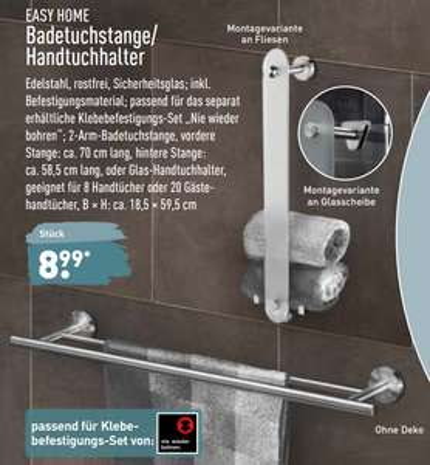 [lokal] Aldi Dresden-Gompitz Handtuchhalter WC-Bürste Duschkorb Badtuchhalter, verschiedene Ausführungen von Easy Home