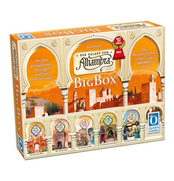 Alhambra BigBox Queen Games, Brettspiel mit den ersten 5 Erweiterungen (Mini-Erweiterung & Falkner nicht dabei) heute bei Kaufhof im Angebot