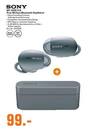 [Regional Saturn Dortmund und Umgebung] Sony WF-1000X In-Ear Bluetooth Kopfhörer Noise Cancelling schwarz inkl. Ladeetui für 99,-€