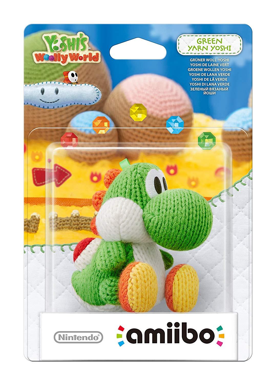 Nintendo amiibo (Yoshi's Woolly World Collection) grüner Woll-Yoshi oder blauer Woll-Yoshi