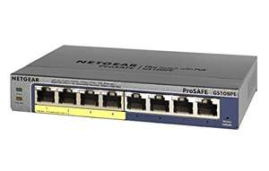 Netgear GS108PE-300EUS 8-Port ProSAFE POE Smart Managed Plus Gigabit Ethernet Switch)