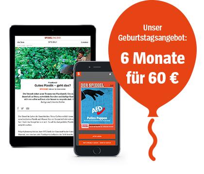 Spiegel+ (inkl. digitale Spiegel-Ausgaben) für sechs Monate zum halben Preis